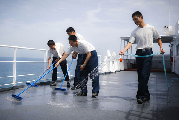 Why Are Sailors Washing The Ship S Floor All The Time As Shown In Movies What Effect Did It Have Quora