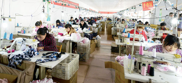 Many hands make light work in glove firm