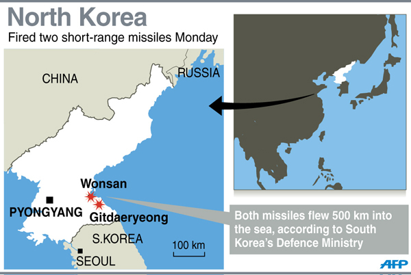 DPRK launched artillery near China flight path: ROK