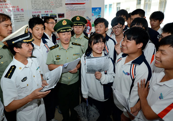 PLA eases standards for recruitment