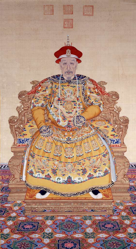 Portrait of Emperor Qianlong dressing in court dress during his old ...