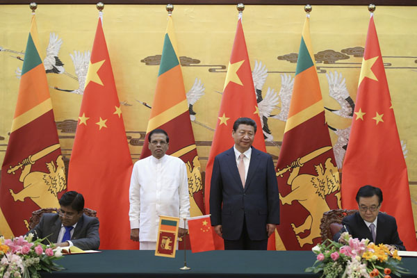 Sri Lanka urged to protect Chinese firms' interests