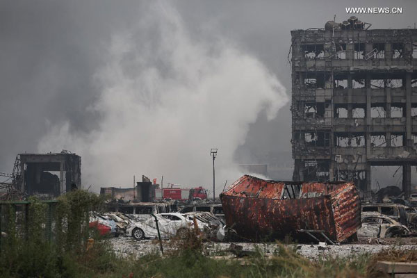 Four new fires break out at Tianjin blast site