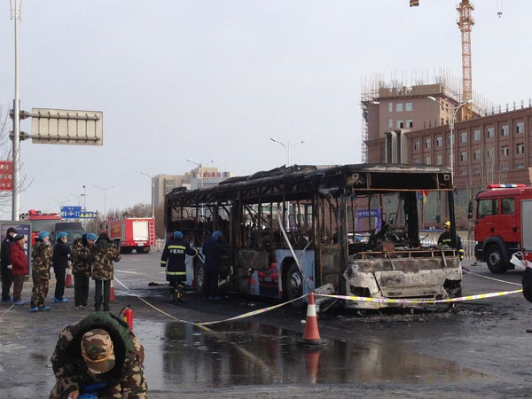Dispute led to NW China bus arson
