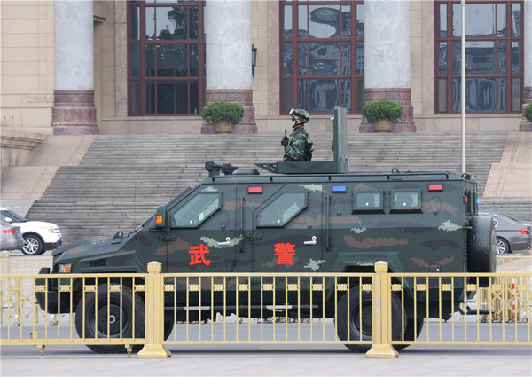 Beijing steps up security for two sessions