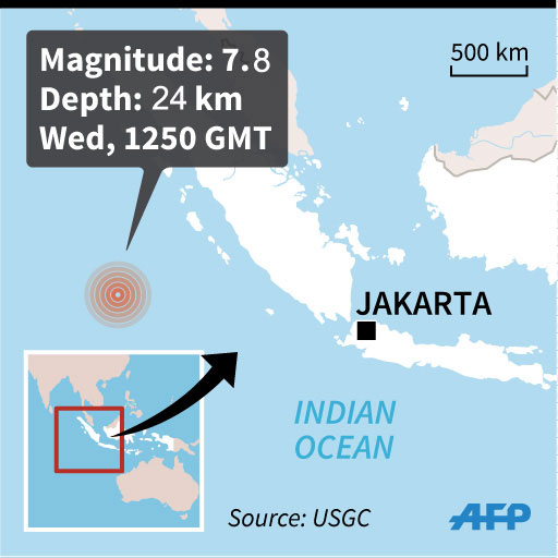 Powerful quake hits off Indonesia, deaths reported