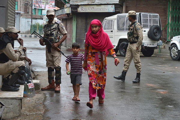 India-controlled Kashmir under curfew, phones blocked