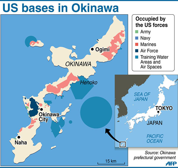 US Military Returns A Large Portion Of Okinawa 丨 Asia - Us bases in japan map