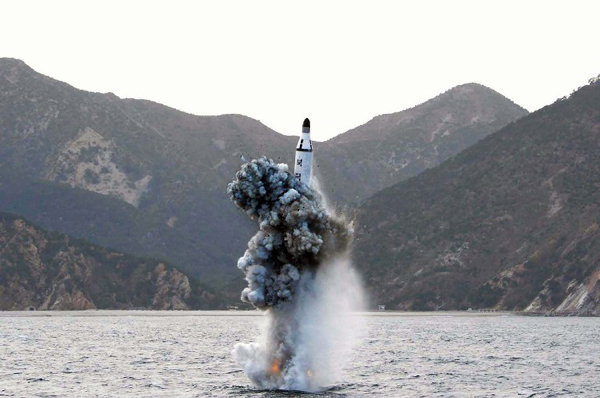 DPRK fires missile from submarine