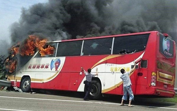Homicidal driver 'caused' Taiwan bus fire