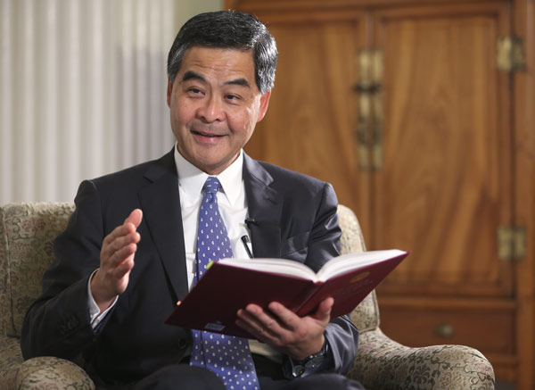 Leung: Most HK people support 'One Country, Two Systems'