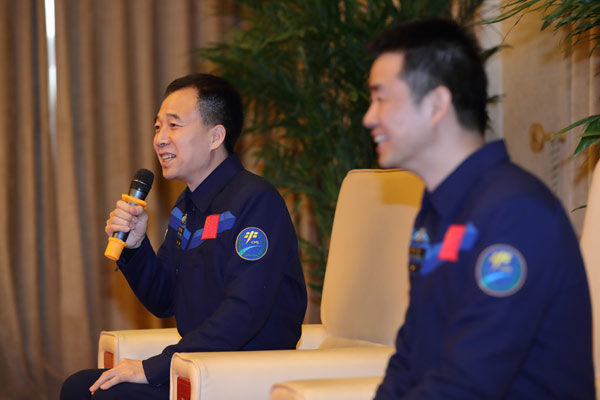 Astronauts meet the press after space mission
