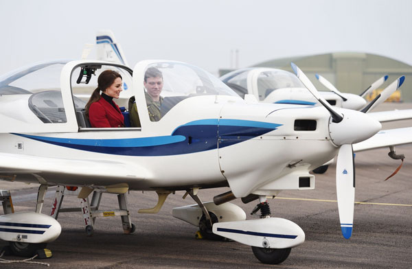 Duchess of Cambridge visits Royal Air Force Wittering