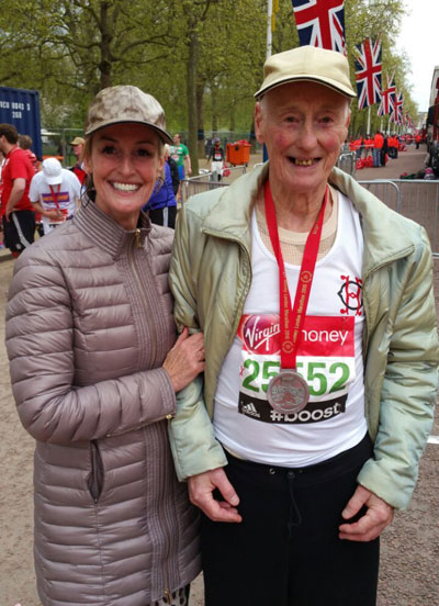 London Marathon's oldest runner still going strong at 83