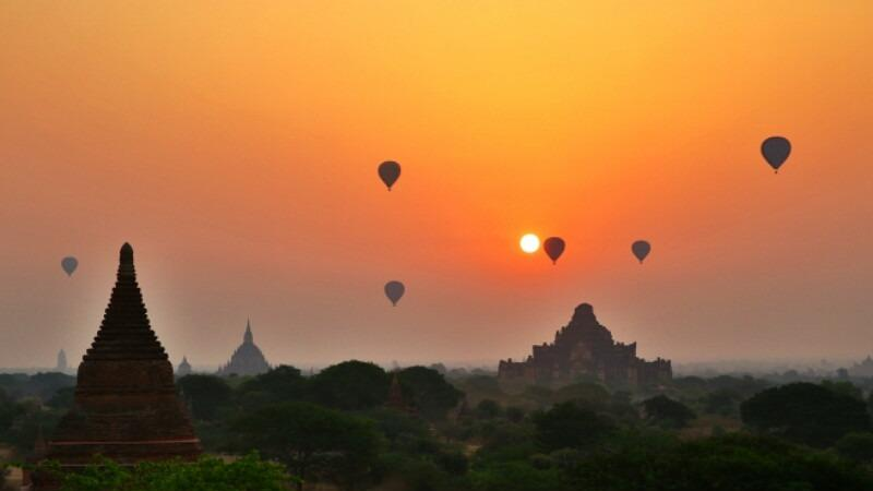 Sunrise at Bagan- Seeing Sights