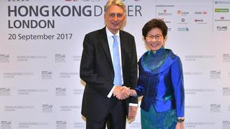Hong Kong Chief Executive Carrie Lam Cheng Yuet-ngor began her three-day UK visit on Wednesday.