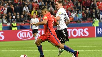 Alexis Sanchez became Chile's all-time leading scorer as they were held by Germany to 1-1 in the Confederations Cup on Thursday.