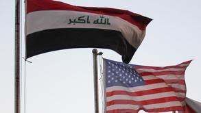 Iraqi and US flags