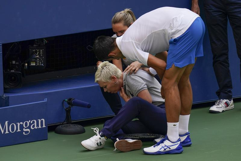 Djokovic Out Of Us Open After Striking Line Judge With Ball Sports China Daily